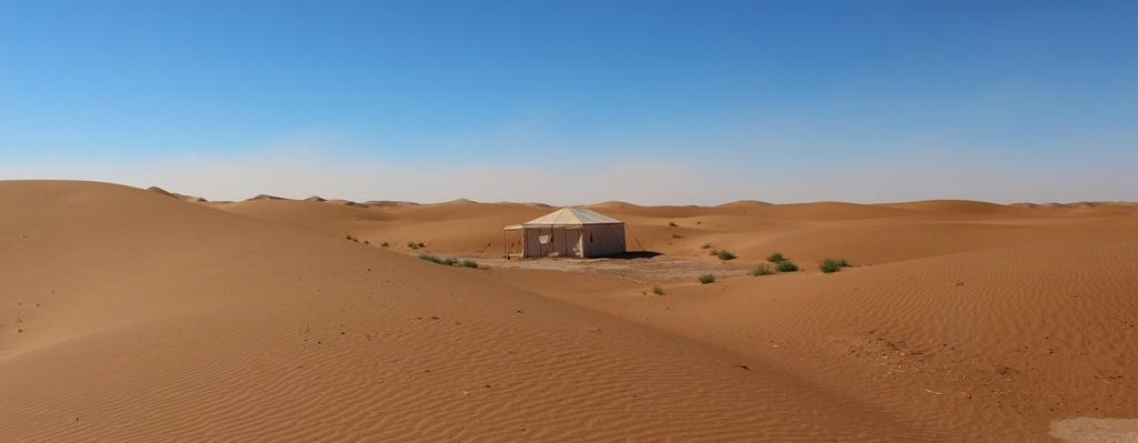 Erg Chigaga dunes and tent 2