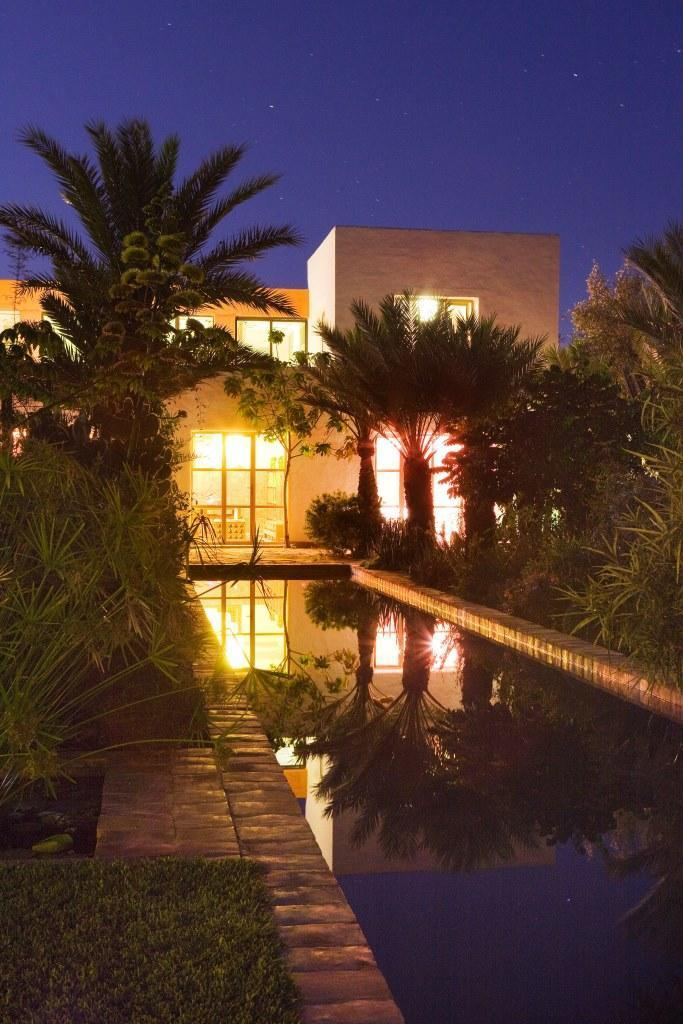 pool by night @ dar al hossoun