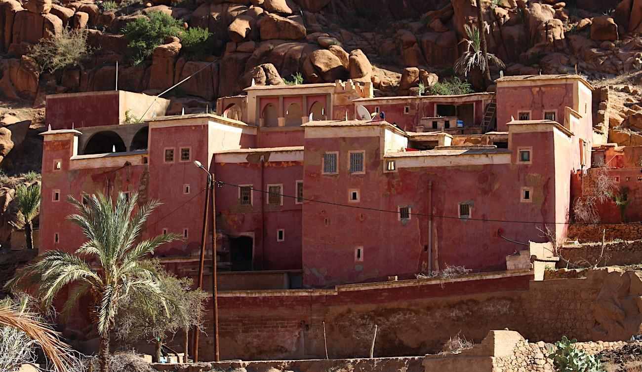 pink washed kasbah