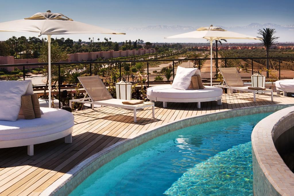 delano hotel marrakech - roof terrace