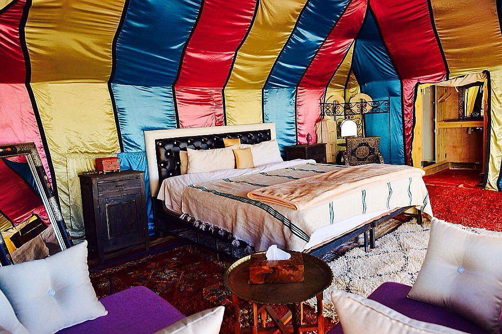 erg chebbi luxury tent inside