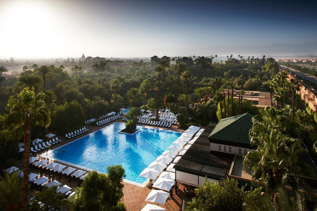 la mamounia pool view