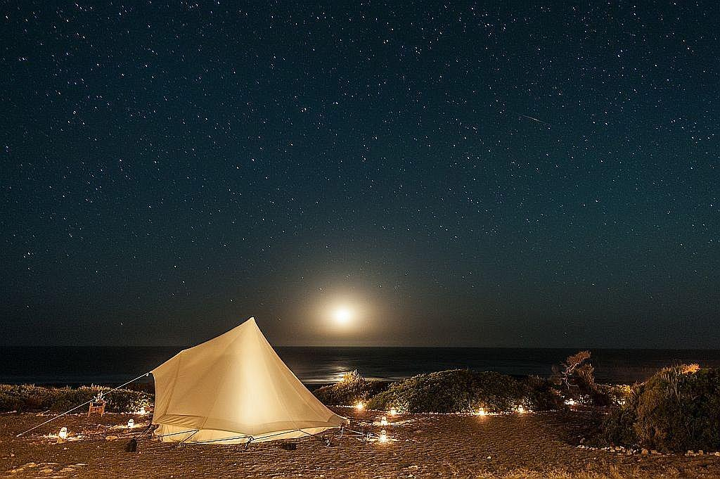 adounia camp by night