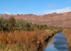 draa valley and river